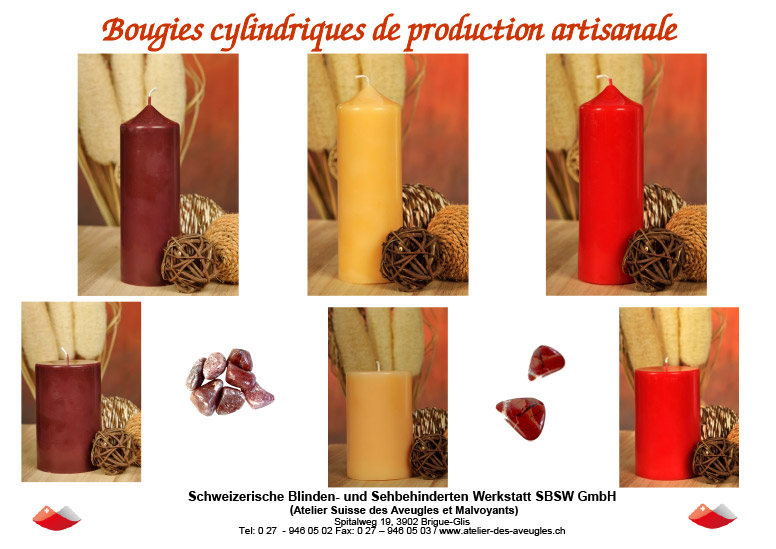 bougies cylindrique
